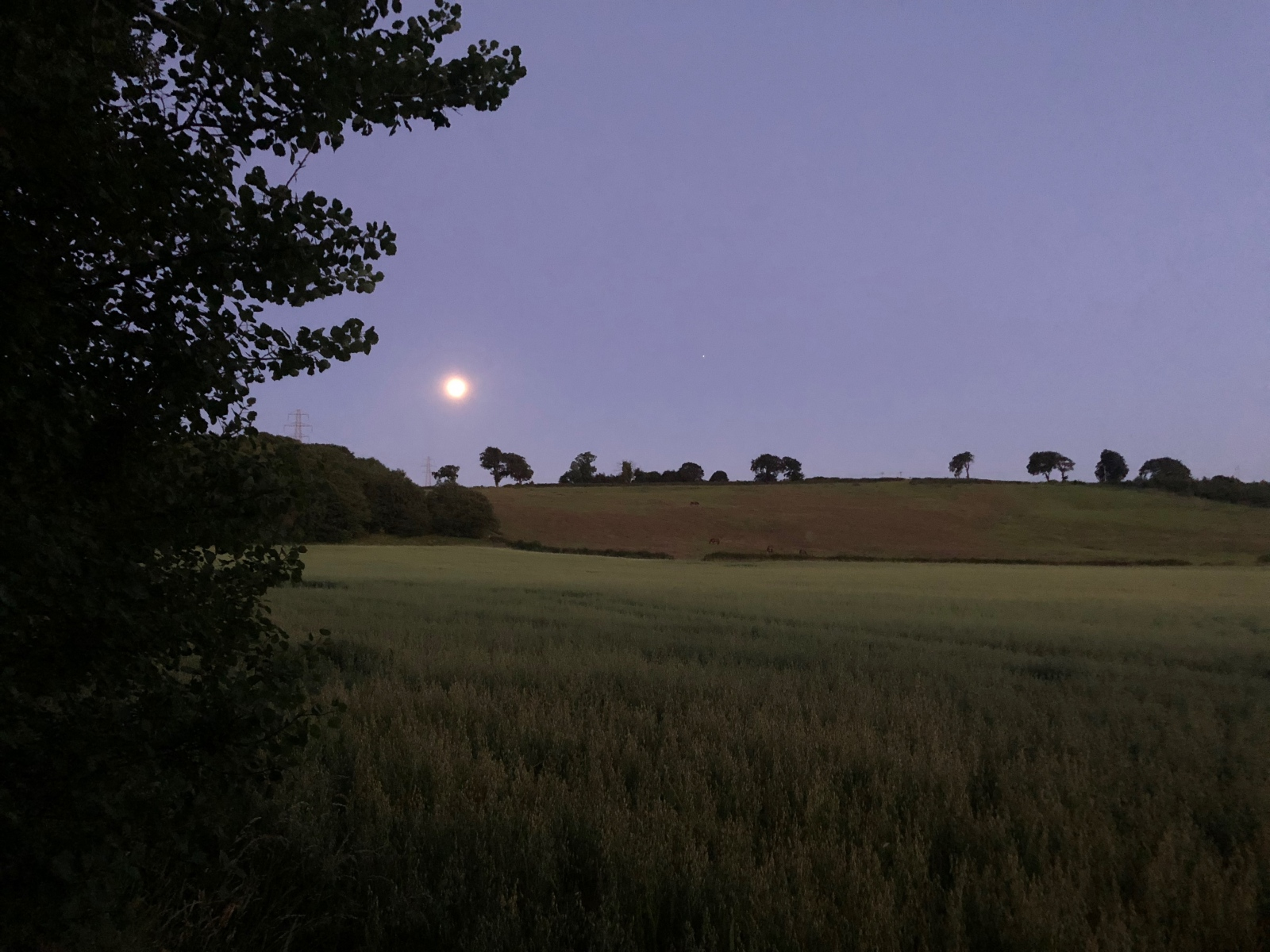 Moon over the hills