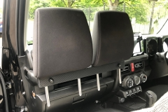 Backrest Bracket with front headrests inserted