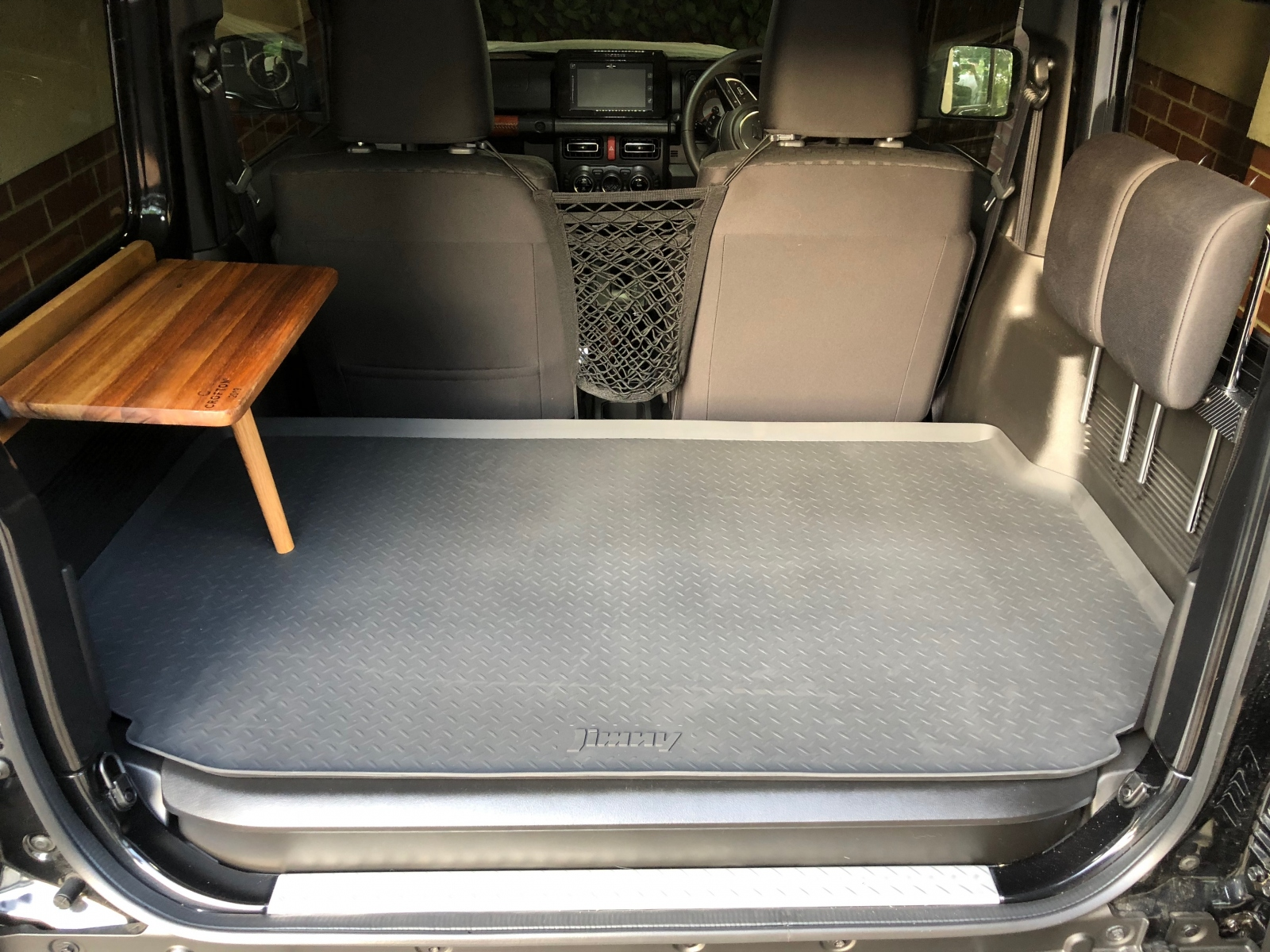 Table with Jimny boot liner