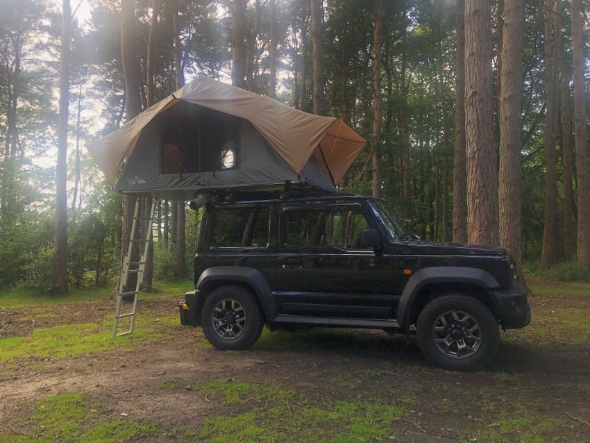 Suzuki Jimny Roof Tent Camping in the Woods