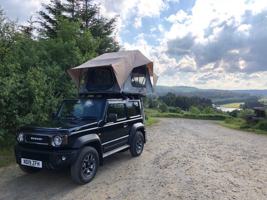 Suzuki Jimny Roof Tent Camping at Elf Kirk View Point