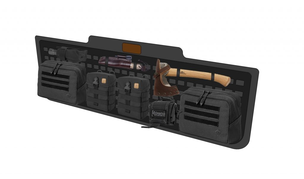 Jimny custom molle tailgate storage mock up
