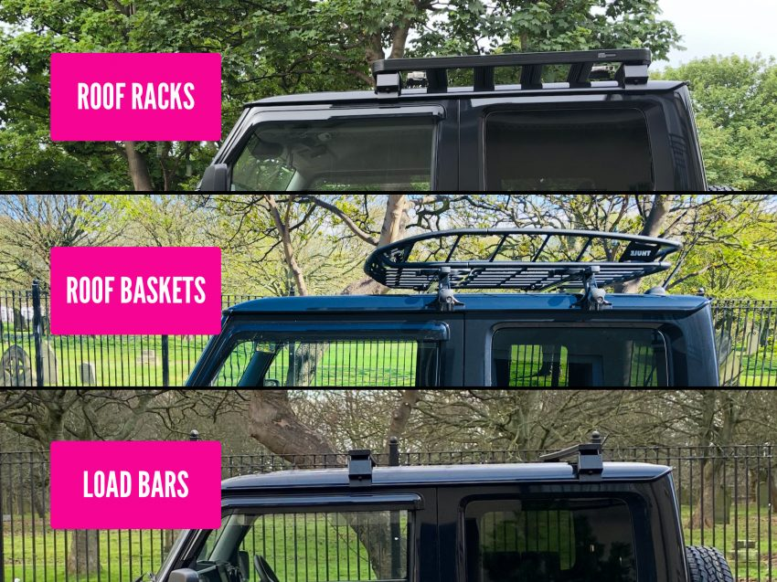 Jimny Roof Storage Systems